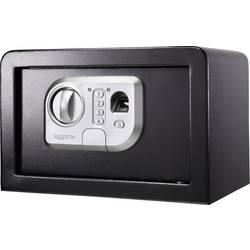 Bezpečnostní skříň Sygonix SY-3521254, SY-31BS, zámek s otiskem prstu, na heslo, (š x v x h) 310 x 200 x 200 mm, černá