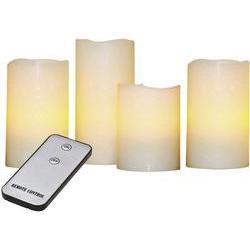 Bezdrátové LED svíčky X4 Life, žlutá, sada 4 ks