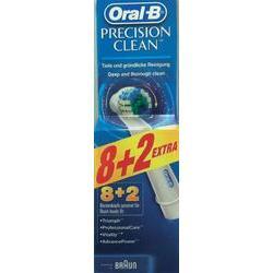 Vyměnitelné nástavce pro elektrické kartáčky Oral-B Precision Clean 10 ks bílá