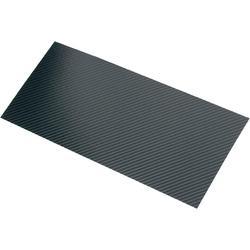Uhlíková deska 340 x 150 mm x 0,55 mm