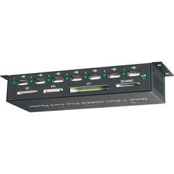 Externí čtečka paměťových karet/USB hub Renkforce CR09e-Hub, USB 2.0, černá