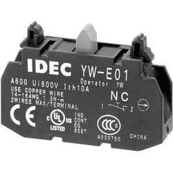 Kontaktní prvek Idec YW-E01, 22 mm, 240 V/AC, 6 A, šroubovací, 1x vyp