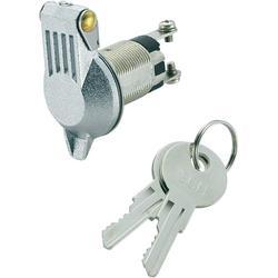 Spínač s klíčem SCI K3-16B-06, 1x 90 °, 19,2 mm, 24 V/DC, 10 A, 1x vyp/zap