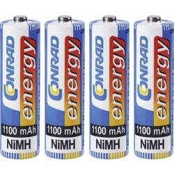 Akumulátor Conrad energy, NiMH , AA, 1100 mAh, 4 ks
