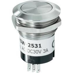 Zvonkové nerezové tlačítko Renkforce, 24 V/1 A, 28 mm