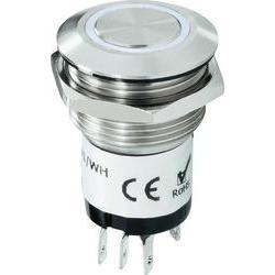 Zvonkové nerezové tlačítko Renkforce, 24 V/1 A, 22 mm, bílá LED
