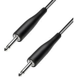 Instrumentální kabel s pogumováním JACK 6,3 mm Paccs, 6 m, černá