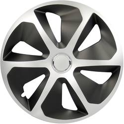 Poklice na kola Rocco R15 stříbrná, černá 4 ks cartrend