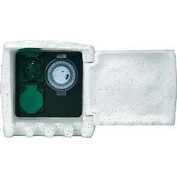 Zahradní zásuvka s časovačem Renkforce 1168583, kamenná šedá, 2násobná