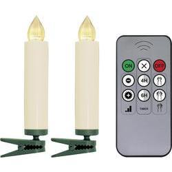 Vnitřní bezdrátové osvětlení na vánoční stromeček s časovačem Polarlite LBA-30-003a, 10 LED, na baterii, teplá bílá
