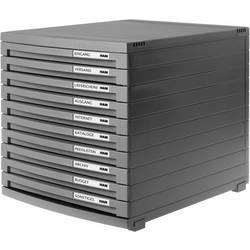 HAN CONTUR 1510-191 box se zásuvkami, tmavě šedá , DIN A4, DIN B4 , DIN C4 , Počet zásuvek: 10