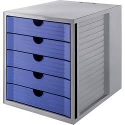 HAN SYSTEMBOX KARMA 14508-16 box se zásuvkami, šedá, DIN A4, DIN C4 , Počet zásuvek: 5