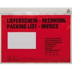 Taška na dokumenty DIN C5 červená Lieferschein-Rechnung, mehrsprachig se samolepicím uzávěrem 250 ks/bal. 250 ks