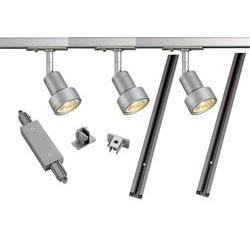 Lištový systém svítidel SLV, 1fázový, LED, 3x 50 W, GU10, stříbrná/šedá