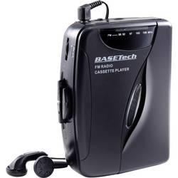Přenosný přehrávač kazet Walkman Basetech černá