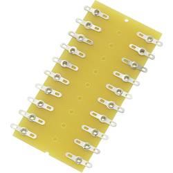 Pájecí lišta dvouřadá TRU COMPONENTS 1572091, pólů 20, tvrzený papír, (d x š x v) 82 x 38 x 1.6 mm, 1 ks