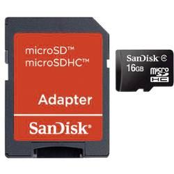 Paměťová karta Micro SDHC 16 GB SanDisk Class 4 vč. SD adaptéru