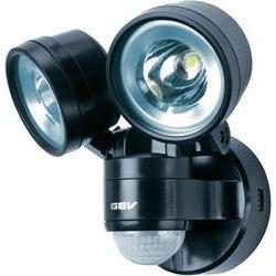 Venkovní LED reflektor s PIR GEV 014718, 8 W, černá
