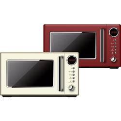 Retro mikrovlnná trouba BiKitchen Cook 815, 700 W, červená