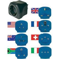 Sada cestovních adaptérů Brennenstuhl, 1508160, 7 ks, černá/modrá
