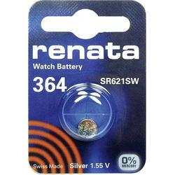 Knoflíková baterie 364, Renata SR60, na bázi oxidu stříbra, 364.CU MF