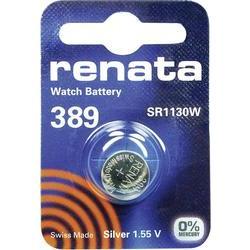 Knoflíková baterie 389, Renata SR54, na bázi oxidu stříbra, 389.CU MF