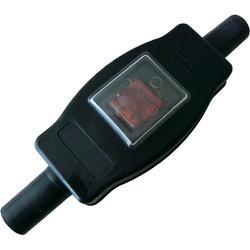 Voděodolný šňůrový vypínač interBär, 2pólový, 250 V/AC, 16 A, IP44