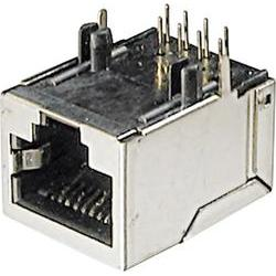 Konektor do DPS ASSMANN WSW A-20042-LP/FS, 8P8C, zásuvka vestavná, stříbrná