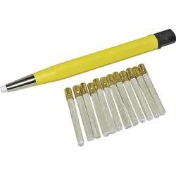 Brusná tužka + štětec ze skleněných vláken 4 mm - 12 ks