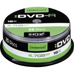 DVD-R 4.7 GB Intenso 4101154, 25 ks, vřeteno