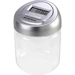 Pokladnička s digitálním počítadlem mincí Basetech 1619410 Počet přihrádek na mince 1