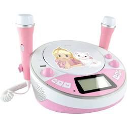 Dětský CD přehrávač X4 Tech Bobby Joey Jam Box Bluetooth, AUX, CD, USB, SD vč. karaoke, včetně mikrofonu, růžová