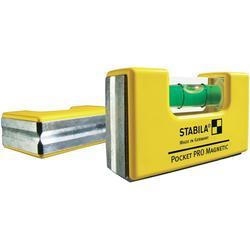 Mini vodováha Stabila Pocket Pro Magnetic 17768, 68 mm, s magnetem, hliníkový rám